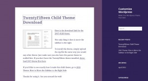 2015 WordPress Theme with the sidebar on the right